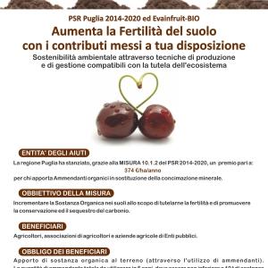 Locandina PSR Puglia 2014-2020 ed Evainfruit-Bio
